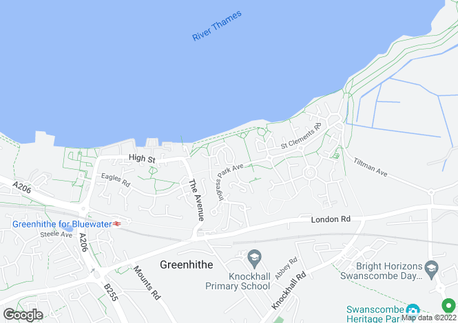 Map for Watermans Way, Greenhithe, Kent