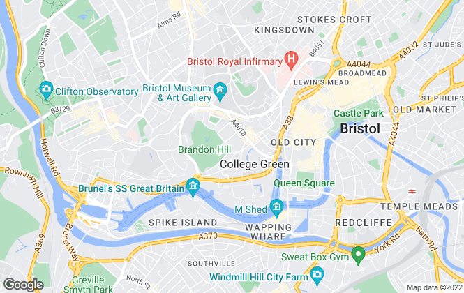 Map for Bruton Knowles , Bristol