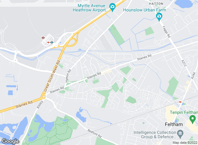 Map for Sherwoods Independent Estate Agents, Bedfont