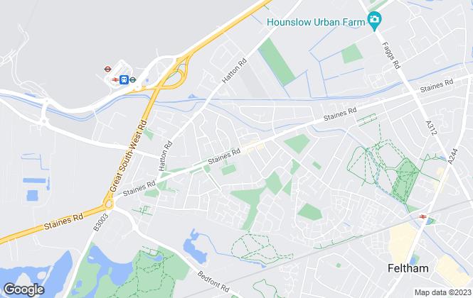 Map for Sherwoods Independent Estate Agents, Bedfont