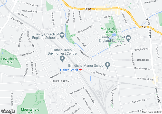 Map for Staplehurst Road, Hither Green