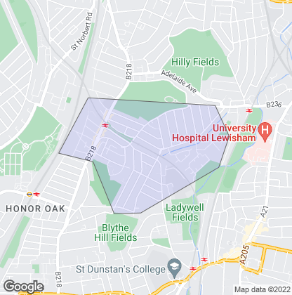 Map of property in Crofton Park