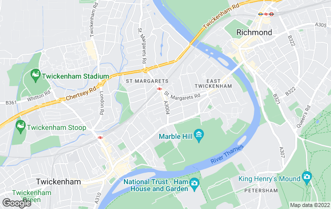 Map for Antony Roberts Estate Agents, St Margarets - Sales