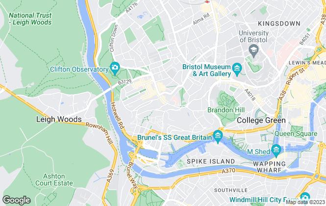Map for Allen & Harris, Clifton