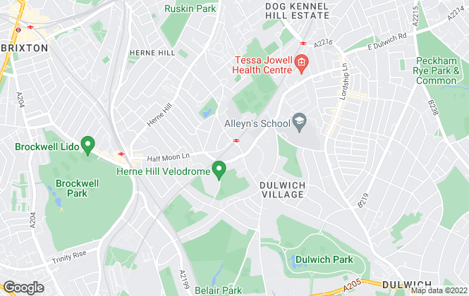 Map for Hamptons International Sales, Dulwich