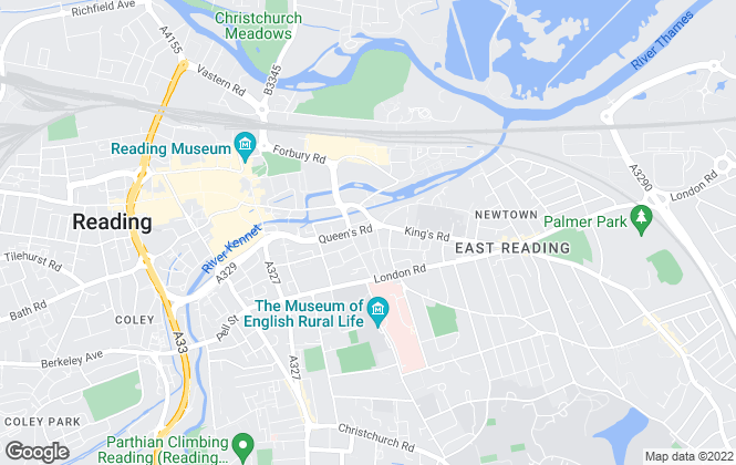 Map for Concept Lettings, Reading