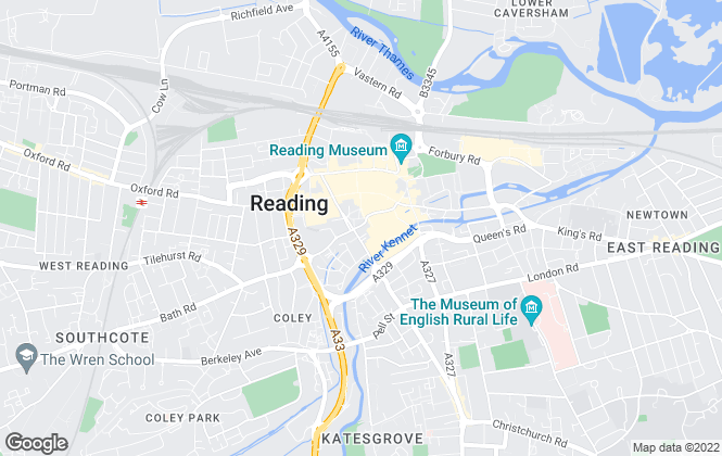 Map for Queensgate Residential, Reading
