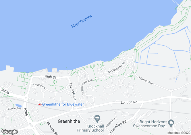 Map for Greenhithe, Kent