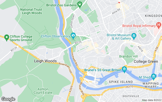 Map for Louise Light Property, Clifton