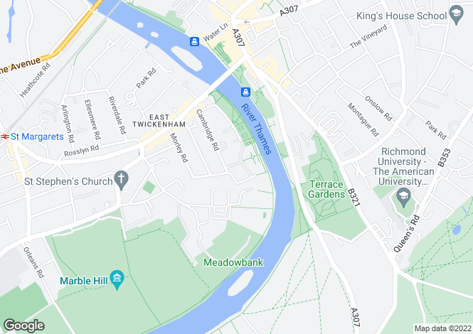 Map for Clevedon Road,
