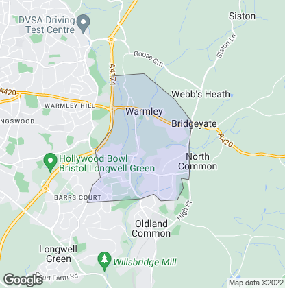 Map of property in Warmley