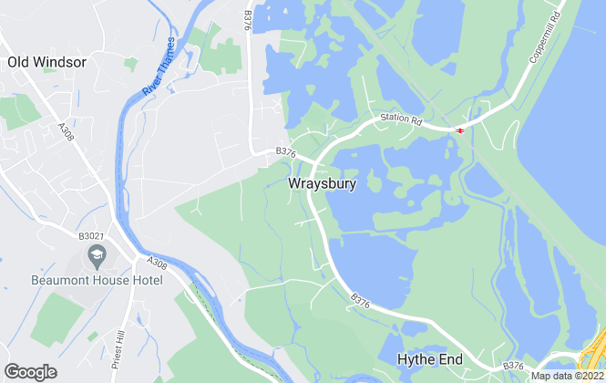 Map for B. S. Bennett, Wraysbury