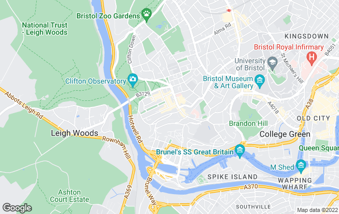 Map for Hydes of Bristol, Clifton