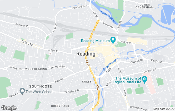 Map for Purplebricks, covering Reading