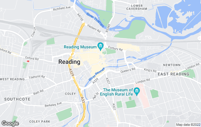 Map for Prospect Estate Agency, Reading