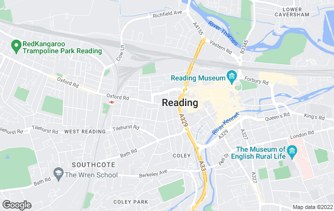 Map for A H Lansley , Reading