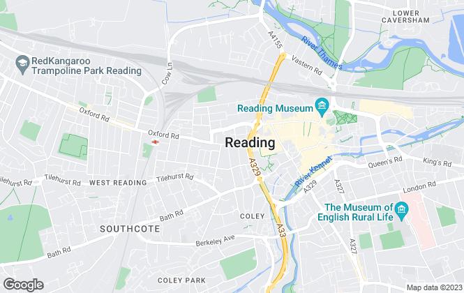 Map for AH Lansley Residential, Reading