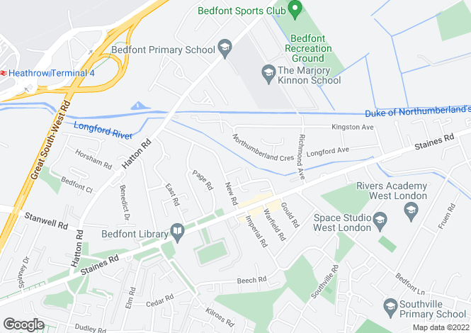 Map for Dorchester Drive, FELTHAM, Middlesex