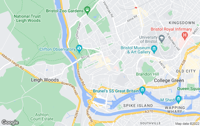Map for Savills, Clifton