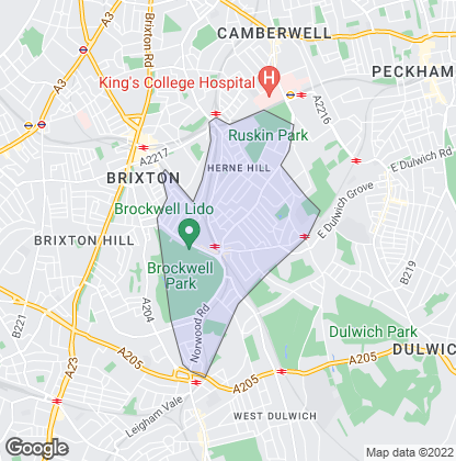 Map of property in Herne Hill