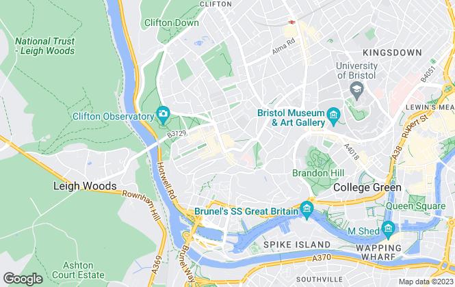 Map for Bradley & Sadler Estate Agents , Clifton