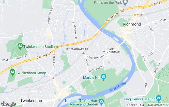 Map for Chase Buchanan,            St Margarets