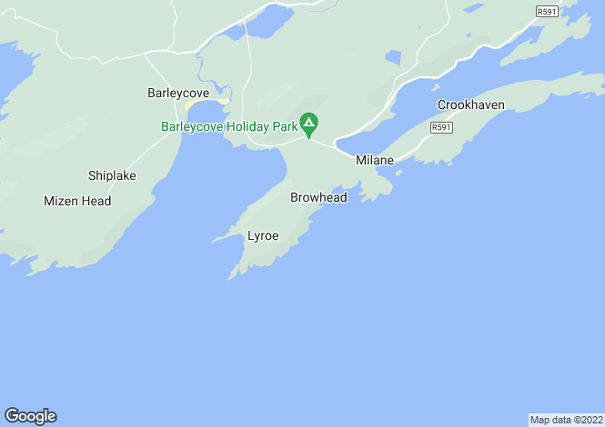 Map for Crookhaven, Cork