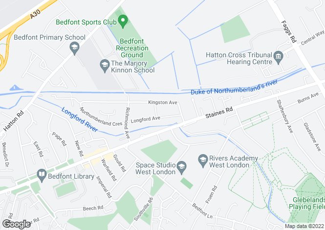 Map for Bedfont