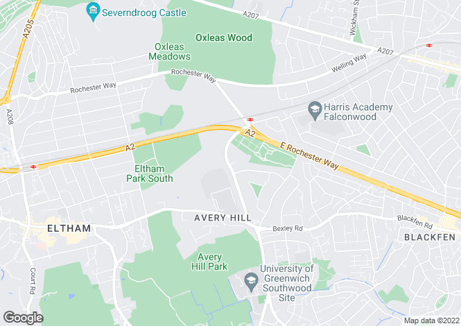 Map for Riefield Road, Eltham, London, SE9