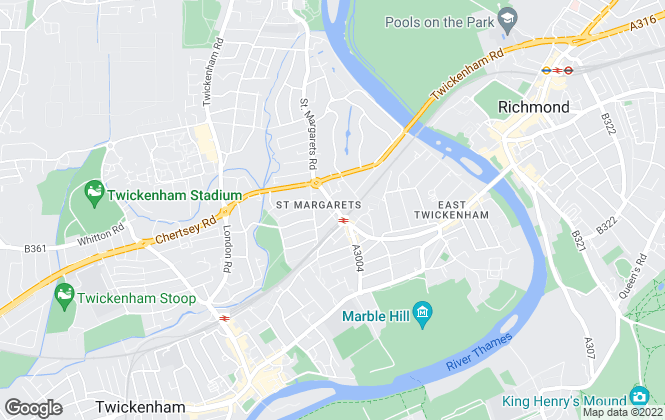 Map for Fitz-Gibbon, Twickenham