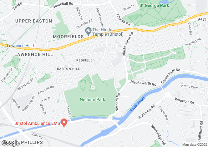 Map for REDFIELD, BRISTOL