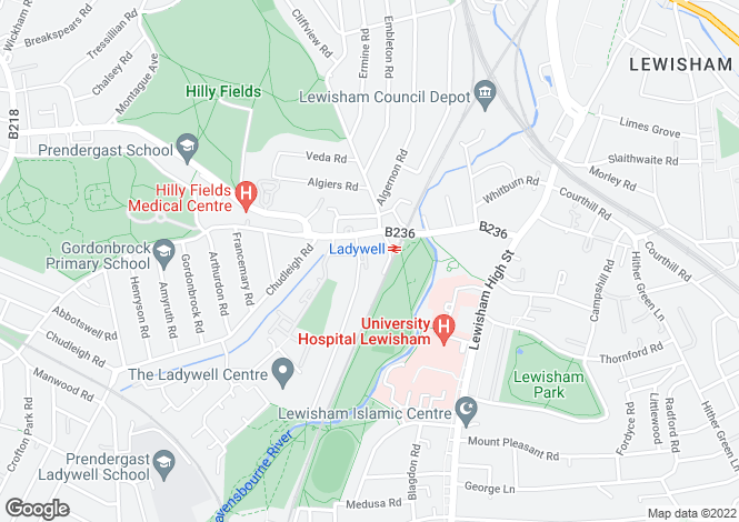 Map for Malyons Road, Lewisham, SE13