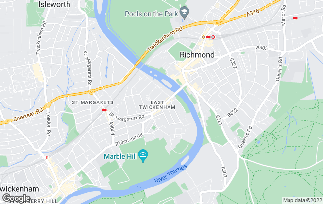 Map for Richmond Bridge Residential Ltd, East Twickenham
