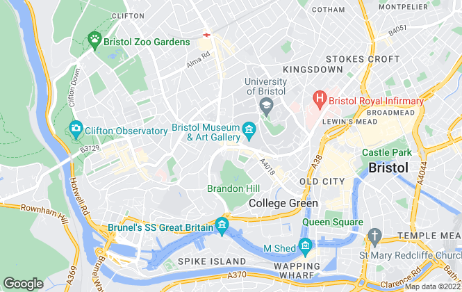 Map for Digs, Bristol