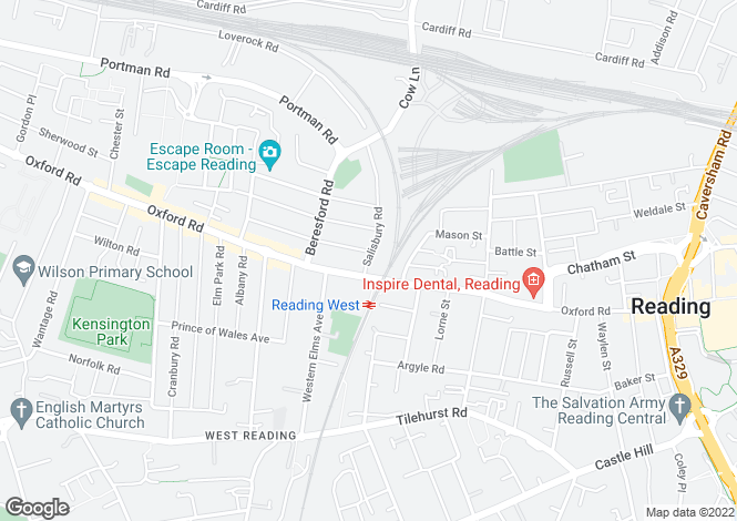 Map for Salisbury Road, Reading, Berkshire