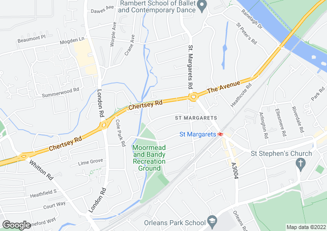 Map for St Margarets Grove, St Margarets, Middlesex