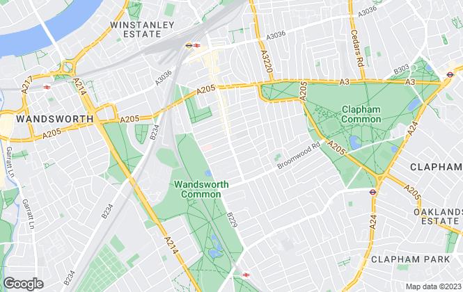 Map for Rampton Baseley, Northcote Road