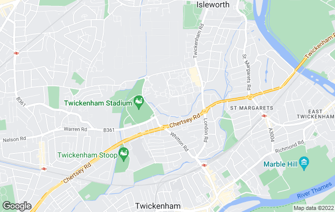 Map for West Central Lettings, Twickenham