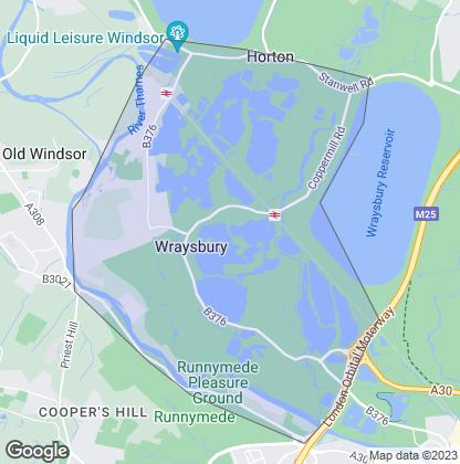 Map of property in Wraysbury