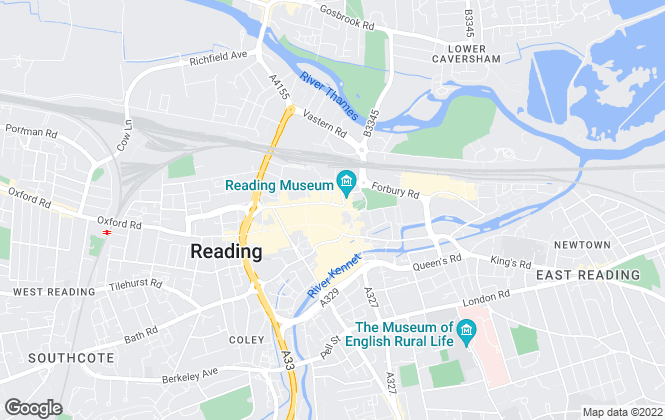 Map for Haslams Estate Agents, Reading