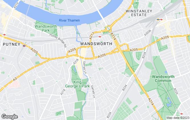 Map for Castle Estates, South London