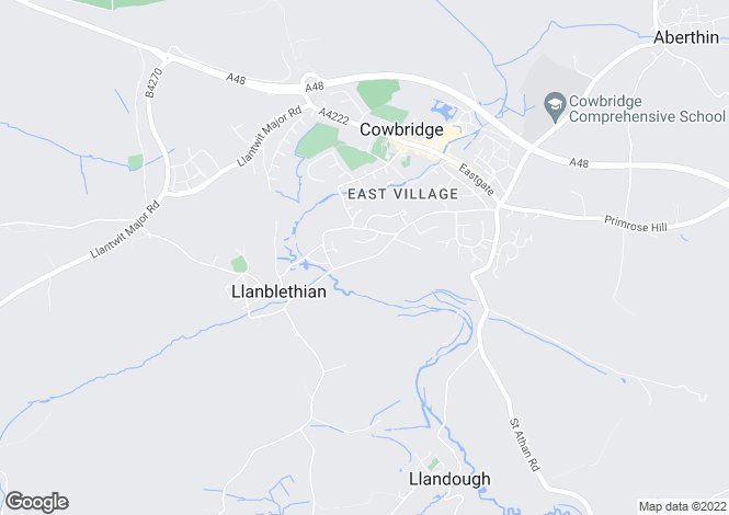 Map for Broadway, Llanblethian