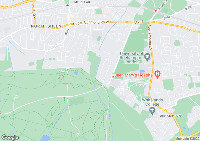 Map for Roedean Crescent, Roehampton Gate, London, SW15