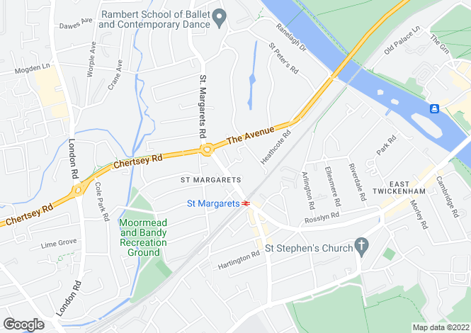 Map for Westmorland Close, St Margarets