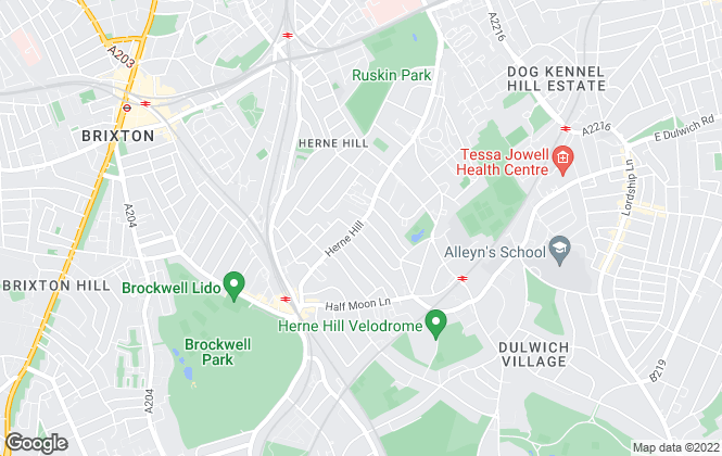 Map for Petermans, Herne Hill
