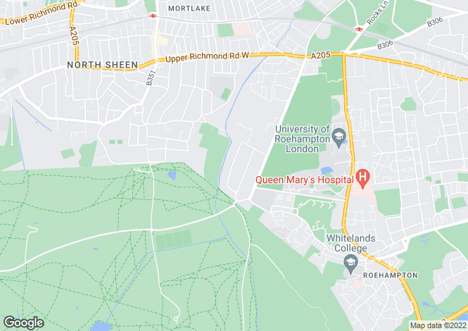 Map for Roedean Crescent, Roehampton, London, SW15