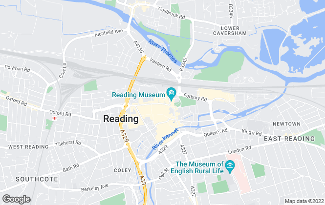 Map for Haslams Chartered Surveyors, Reading