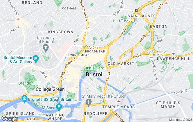 Map for Robert Rhys, Bristol