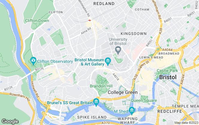 Map for Hamptons International Lettings, Bristol