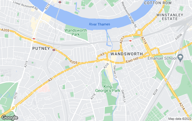 Map for Oscar Knight Estate Agents, Wandsworth